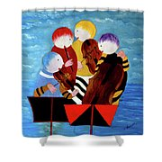 Music Performers Shower Curtain