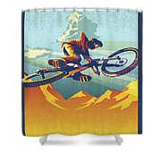 My Air Miles Shower Curtain by Sassan Filsoof