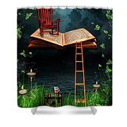 My Book Said Come Fly With Me Shower Curtain