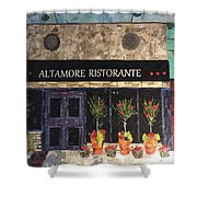 My Favorite Restaurant Shower Curtain