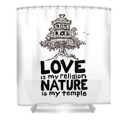 My Mantra Drawing Shower Curtain