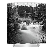 Myllykoski Bw Panorama Shower Curtain