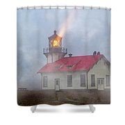 Mystical Point Cabrillo Lighthouse California Shower Curtain