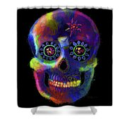 Mystico Sugarskull Of Letters Shower Curtain