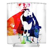 Nacho Watercolor Shower Curtain