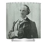 Nadar Portrait Of Charles Baudelaire Shower Curtain
