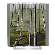 Naked Forest Shower Curtain