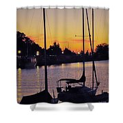 Narrow Sunset Shower Curtain