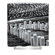National Cemetery Shower Curtain by Tom Singleton