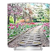 Naturalness And Flowers 36 Shower Curtain