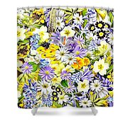 Naturalness And Flowers 54 Shower Curtain
