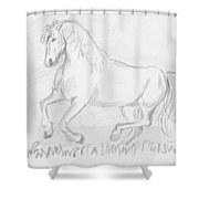 Naughty Horse Shower Curtain