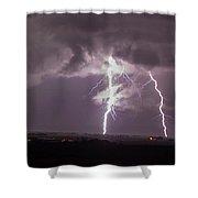 Nebraska Arcus And Lightning 044 Shower Curtain