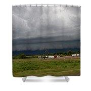 Nebraska Supercell 009 Shower Curtain by Dale Kaminski