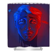 Neon Misery Shower Curtain