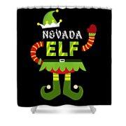 Nevada Elf Xmas Elf Santa Helper Christmas Shower Curtain