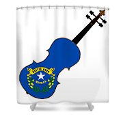 Nevada State Fiddle Shower Curtain