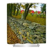New England Stone Wall 2 Shower Curtain by Nancy De Flon