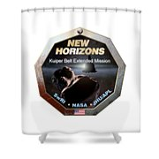 New Horizons Extended Mission Logo Shower Curtain