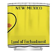 New Mexico State License Plateai Shower Curtain