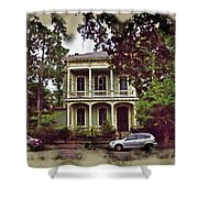 New Orleans Home In Watercolor Shower Curtain