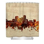 New Orleans Skyline Sepia Shower Curtain