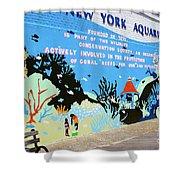 New York Aquarium, Coney Island, Brooklyn, New York Shower Curtain