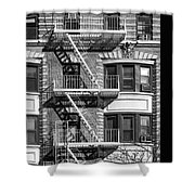 New York City Fire Escapes Shower Curtain