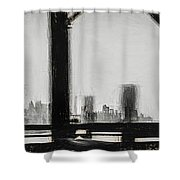 New York City From The Bridge #nyc #cityscape Shower Curtain