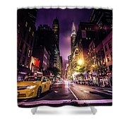 New York City Street Shower Curtain