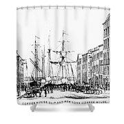 New York Docks, 1856 Shower Curtain
