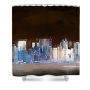 New York Skyline Illustration 1 Shower Curtain