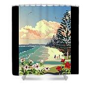 New Zealand Orewa Beach Shower Curtain
