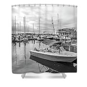 Newport Rhode Island Harbor Shower Curtain