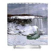 Niagara Falls Late Winter Shower Curtain