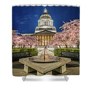 Night At The Capitol Shower Curtain