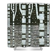 Night Birches Shower Curtain