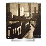 Night Bustle Shower Curtain