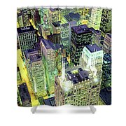 Night, Chicago, Illinois, Usa Shower Curtain