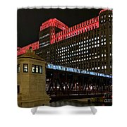 Night City Colors Shower Curtain