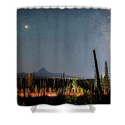 Night On Santiam Pass Shower Curtain