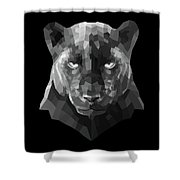 Night Panther Shower Curtain