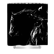 Night Riders Shower Curtain