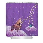 Night Sky Music Makers Shower Curtain