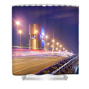 Night Transit Shower Curtain