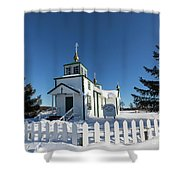 Ninilchik Russian Orthodox Church Shower Curtain