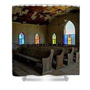 No More Sermons  Shower Curtain