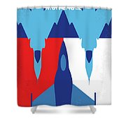 No1028 My Iron Eagle Minimal Movie Poster Shower Curtain