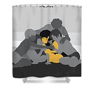 No1035 My Roma Minimal Movie Poster Shower Curtain