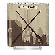 No1042 My The Crimes Of Grindelwald Minimal Movie Poster Shower Curtain